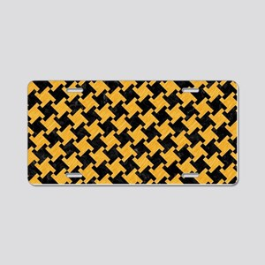 HOUNDSTOOTH2 BLACK MARBLE & Aluminum License Plate