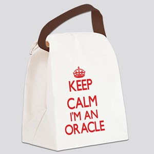 Keep calm I'm an Oracle Canvas Lunch Bag