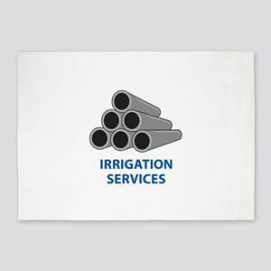 IRRIGATION SERVICES 5'x7'Area Rug
