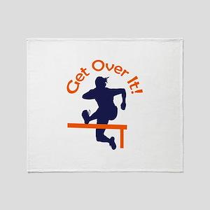 GET OVER IT Throw Blanket