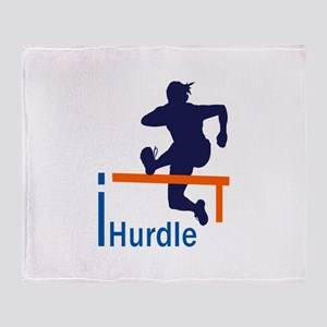 I HURDLER Throw Blanket