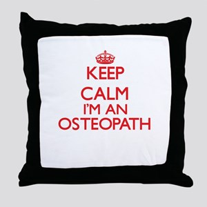 Keep calm I'm an Osteopath Throw Pillow