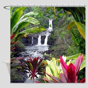 Umauma Falls Shower Curtain