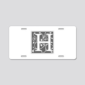 H-ana gray Aluminum License Plate