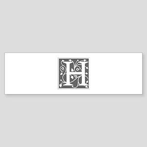 H-ana gray Bumper Sticker