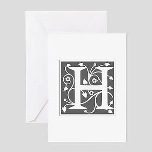H-ana gray Greeting Cards