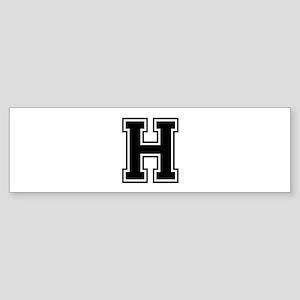 H-var black Bumper Sticker