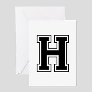 H-var black Greeting Cards