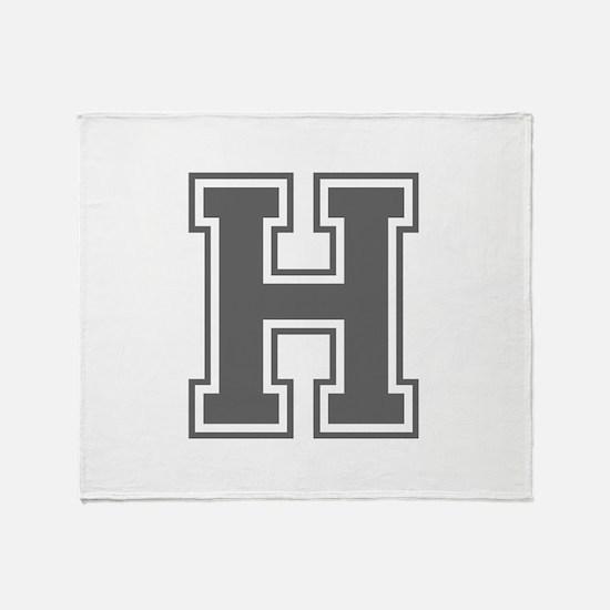 H-var gray Throw Blanket
