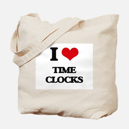 I love Time Clocks Tote Bag