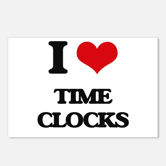 I love Time Clocks Postcards (Package of 8)