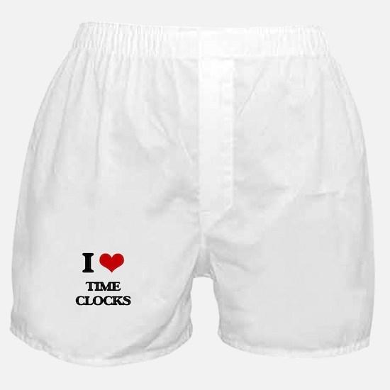 I love Time Clocks Boxer Shorts