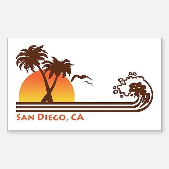 San Diego CA Sticker (Rectangle)