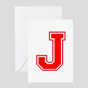 J-var red Greeting Cards