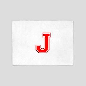 J-var red 5'x7'Area Rug
