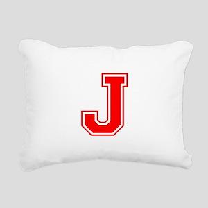 J-var red Rectangular Canvas Pillow