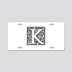 K-ana gray Aluminum License Plate