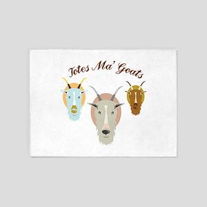 Totes Ma' Goats 5'x7'Area Rug