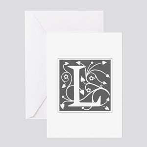 L-ana gray Greeting Cards