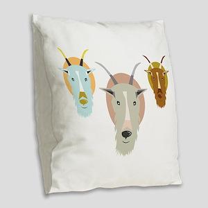 Mountain_Goats_Base Burlap Throw Pillow
