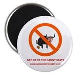 """Nanny Knows Best 2.25"""" Magnet (100 pack)"""