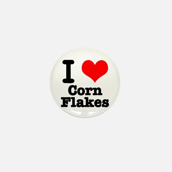 I Heart (Love) Corn Flakes Mini Button