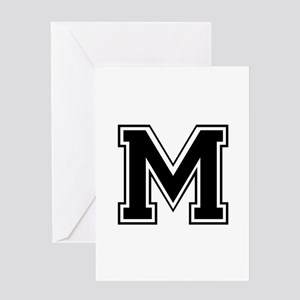 M-var black Greeting Cards