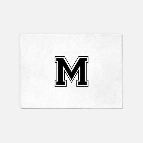 M-var black 5'x7'Area Rug