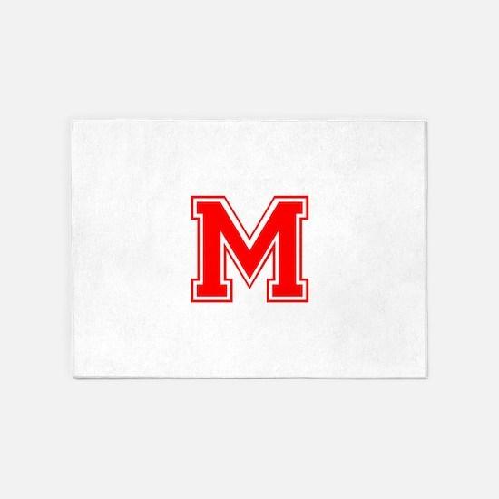 M-var red 5'x7'Area Rug