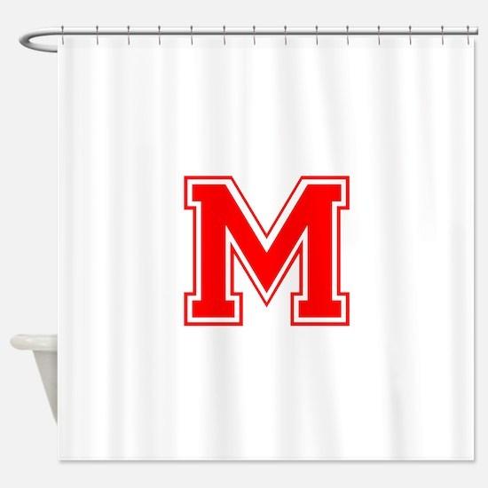 M-var red Shower Curtain