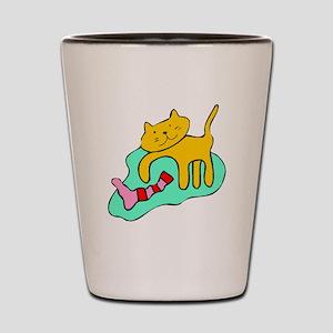 Cat And Sock Shot Glass
