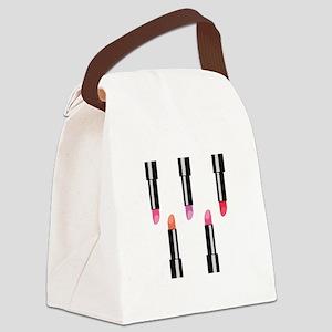 Lipsticks Canvas Lunch Bag