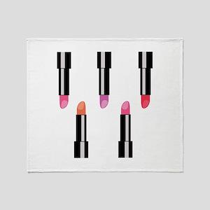 Lipsticks Throw Blanket