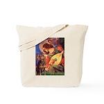Mandolin Angel & Dobie Tote Bag