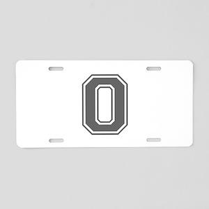 O-var gray Aluminum License Plate