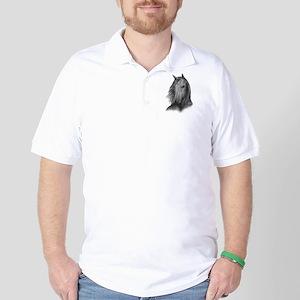 Black Mustang Golf Shirt