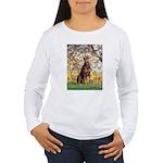 Spring / Doberman Women's Long Sleeve T-Shirt