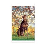 Spring / Doberman Sticker (Rectangle)