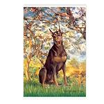 Spring / Doberman Postcards (Package of 8)