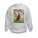 Spring / Doberman Kids Sweatshirt