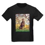 Spring / Doberman Kids Dark T-Shirt