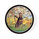 Spring / Doberman Wall Clock