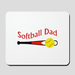 SOFTBALL DAD Mousepad
