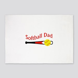 SOFTBALL DAD 5'x7'Area Rug