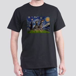 Starry Night / 2 Dobies Dark T-Shirt