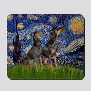 Starry Night / 2 Dobies Mousepad
