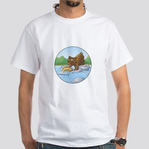 Buster's 'gone fishing' White T-Shirt