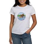 Buster's 'gone fishing' Women's T-Shirt
