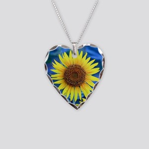 Young Sunflower Square Necklace