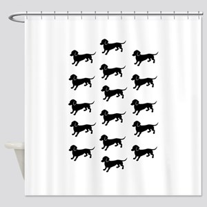Dachshunds on Parade Shower Curtain